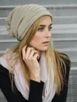 Caspar MU079 Unisex Simple Knitted Hat Slouch Beanie with Unusual Patterns