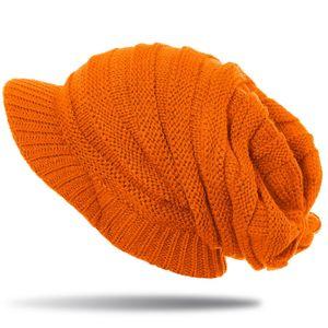 Womens Knitted Slouch Winter Beanie MU046