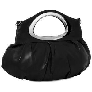 CASPAR Womens Small Clutch / Handbag / Shoulder Bag with Silver Handle - many colours - TS759