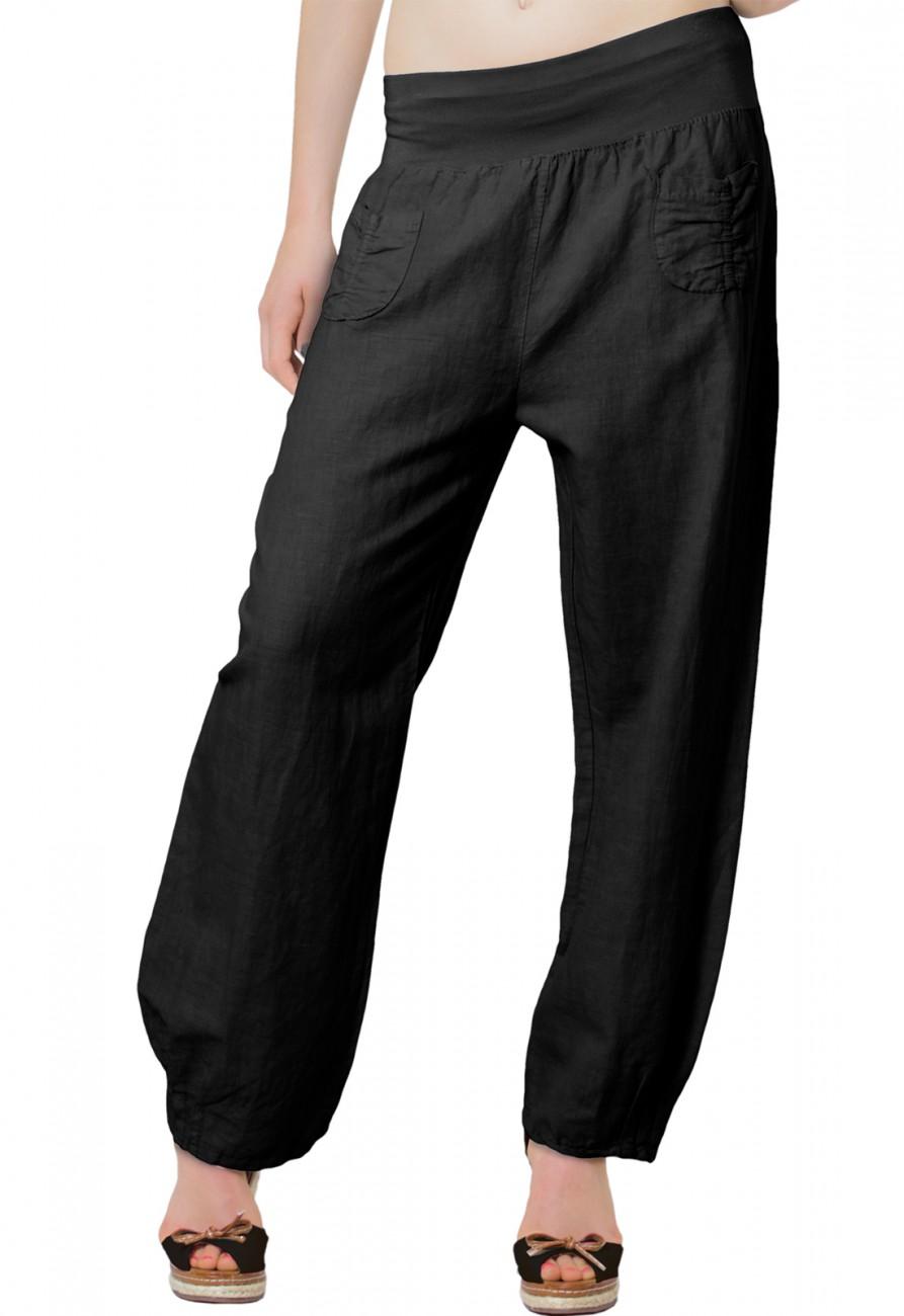 e83d399cfe93f1 CASPAR KHS006 leichte bequeme Damen Sommerhose / Leinenhose Größen 36 S bis  46 XXXL Bekleidung Hosen Stoffhosen