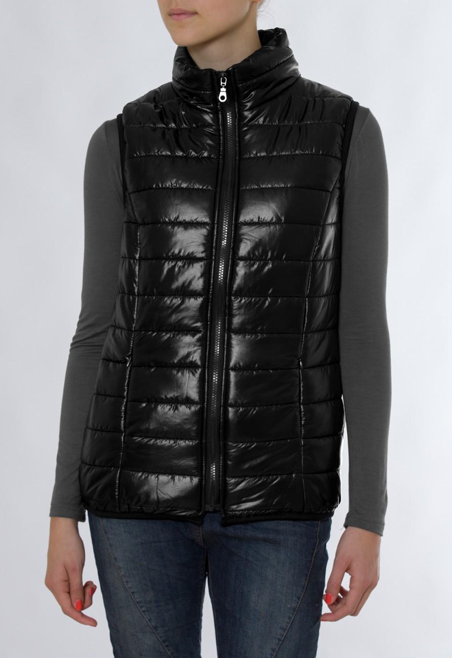 CASPAR Damen JackenWestenärmellose glänzende Softshell Winterweste Steppweste Daunenjacke ohne Ärmel MADE IN ITALY JCK006