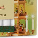 SIKORA Christmas Pyramid Wax Candles - WHITE - H:7,4cm / W:1,4cm, 18 Pcs.