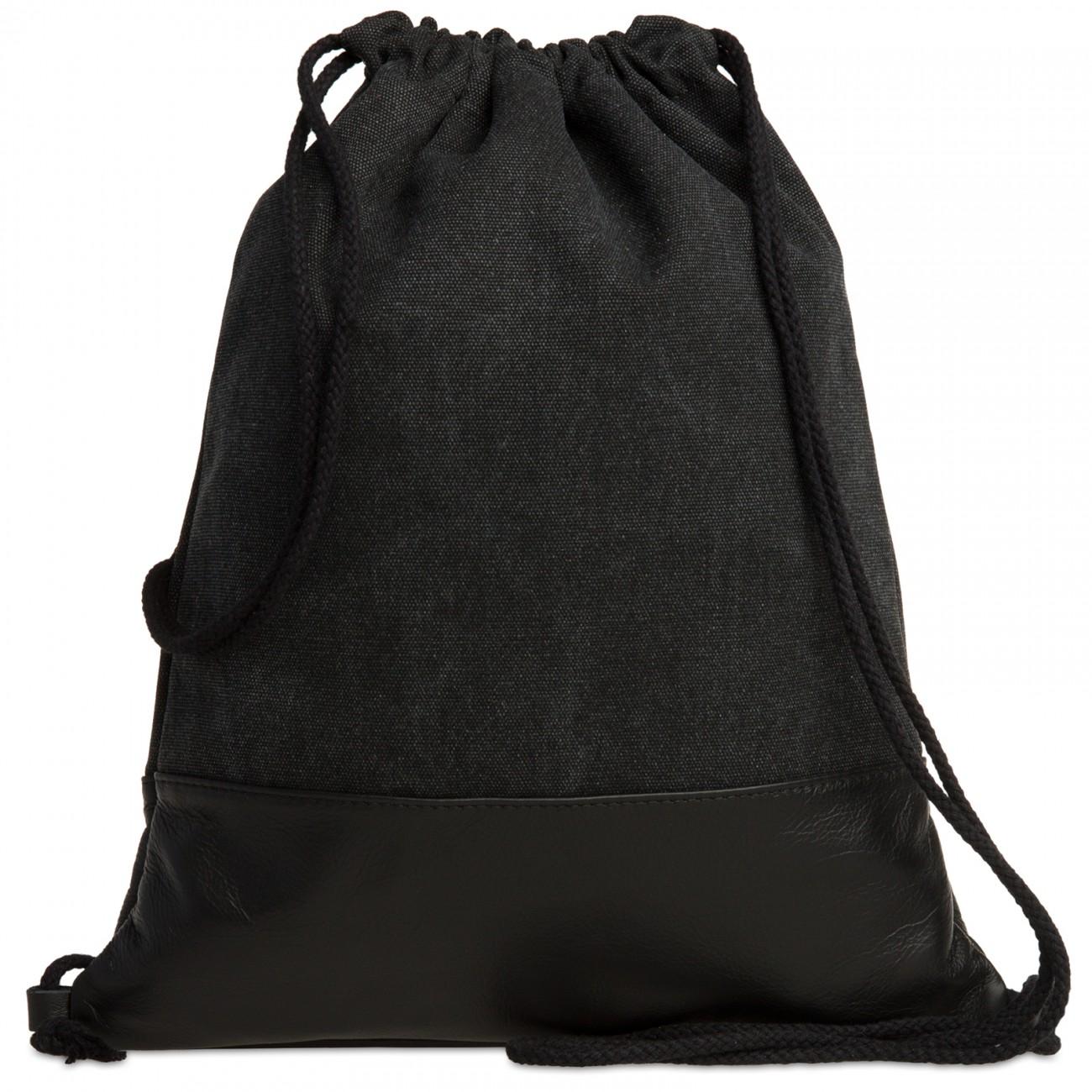 turnbeutel baumwolle schwarz