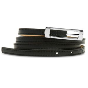 Caspar GU296 Elegant Thin Leather Belt for Women Made in Italy