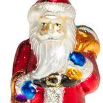 SIKORA BS379 Glas Figur Christbaumschmuck Weihnachtsbaum Anhänger WEIHNACHTSMANN 11cm