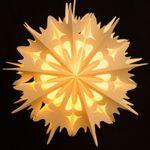 SIKORA FB54 beleuchteter großer Papierstern Stern EISKRISTALL Leuchte Weihnachten D:49cm