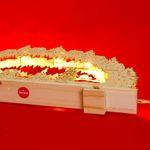 SIKORA LB38 beleuchteter XL LED Holz Schwibbogen SEIFFENER WEIHNACHTSMARKT 57cm inclusive Trafo