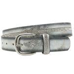 CASPAR GU307 Metallic Women Belt with Glitter Strass Decor