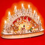 SIKORA LB66 Wooden 3D Christmas Arch LED Illumination - Winter Village