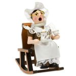 SIKORA Serie F Christmas Wooden Incense Smoker - Grandad or Grandma on Rocking Chair