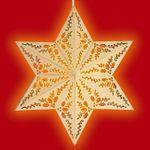 SIKORA FB30 beleuchtetes Holz Fensterbild Motiv STERN KLASSISCH