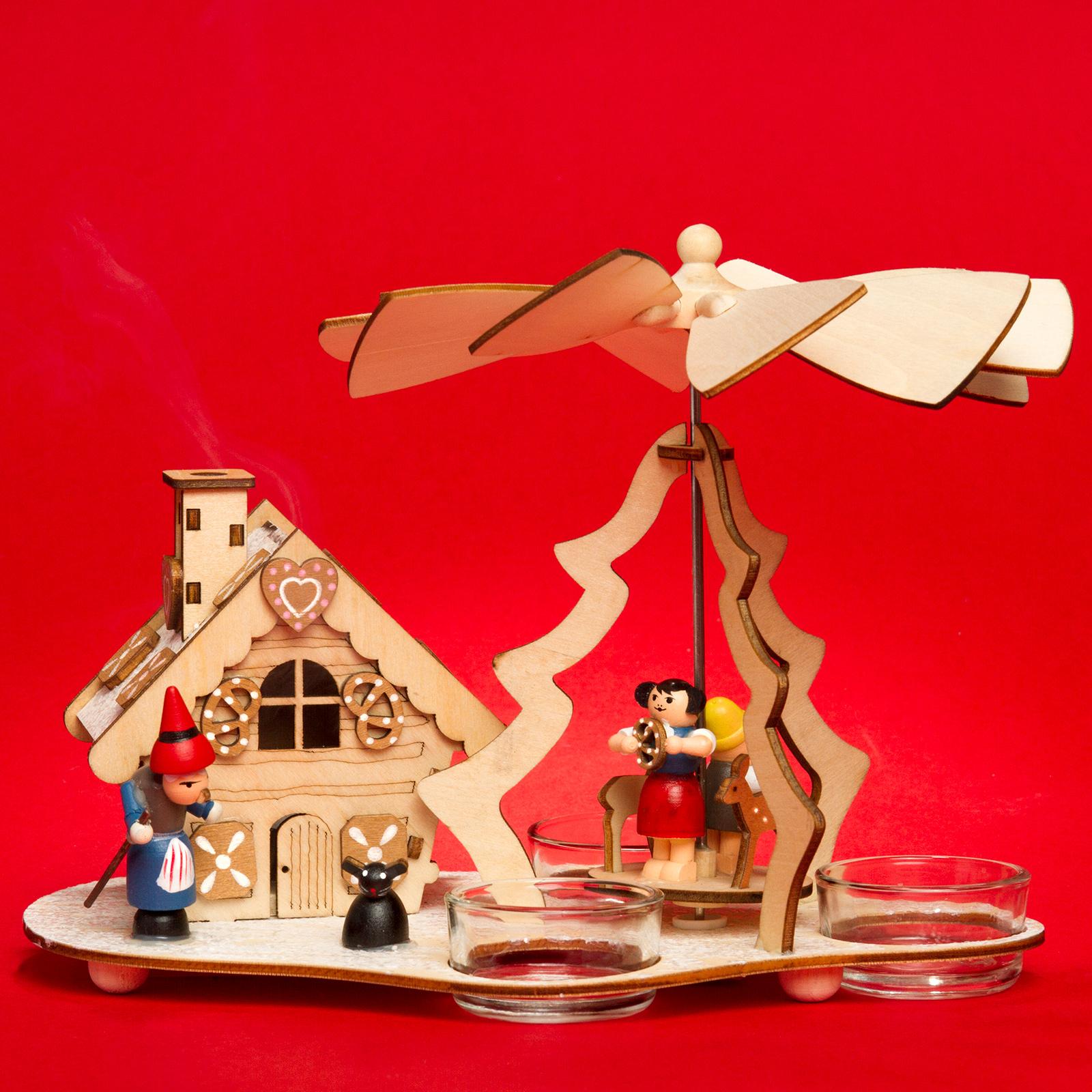 sikora p30 2 in 1 holz teelicht weihnachtspyramide mit funktionsf higem r ucherhaus motiv h nsel. Black Bedroom Furniture Sets. Home Design Ideas
