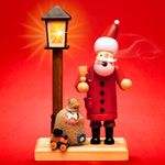 SIKORA RM-A-LED Wooden Christmas Incense Smoker with Battery-Operated LED Lantern