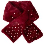 Caspar SC482 Women's Faux Fur Scarf / Collar with Pearls