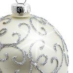 SIKORA 4er-Set ausgefallene Christbaumkugeln 'Highlights' aus Glas - Silber