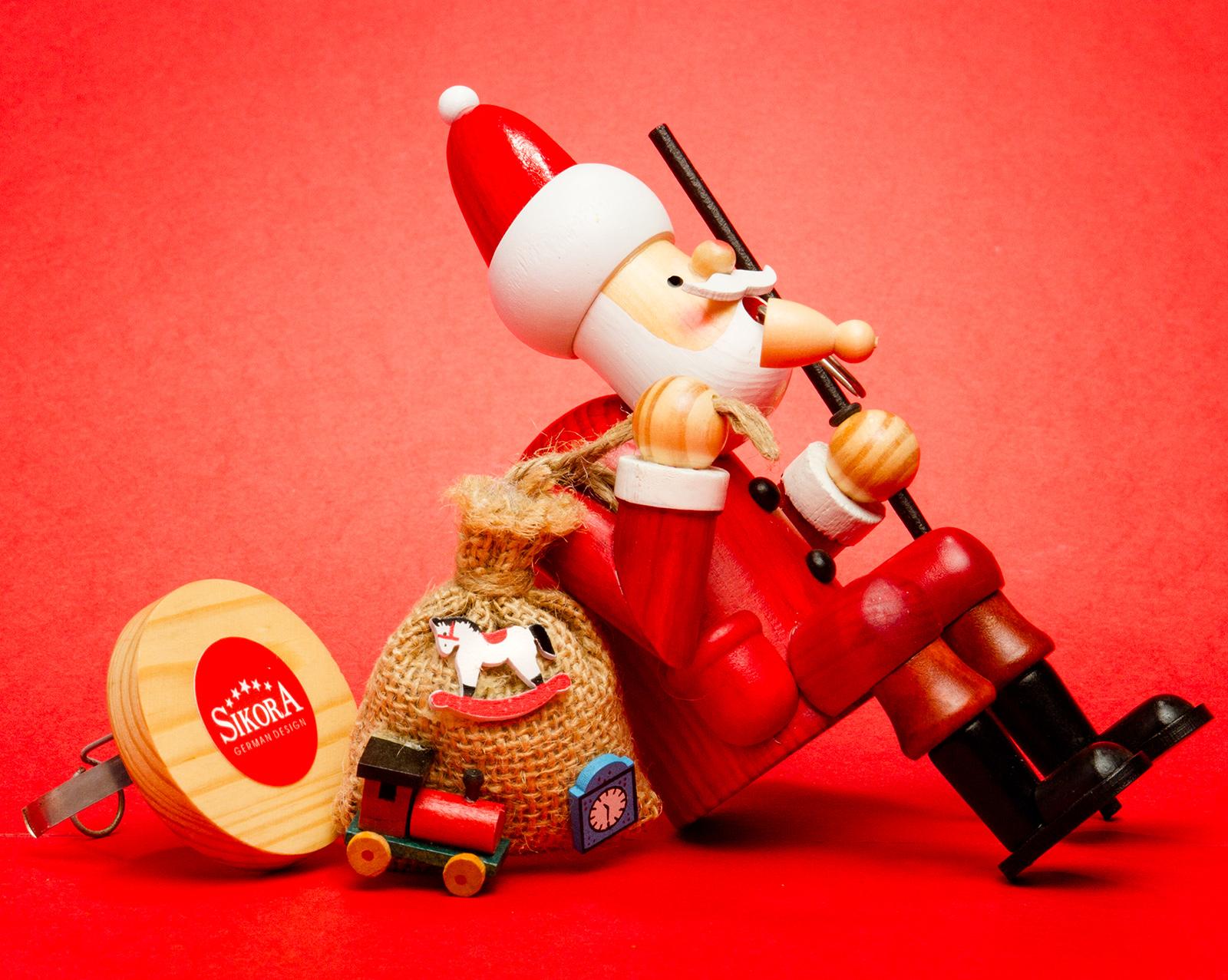 SIKORA RM A Räuchermännchen Kantenhocker Weihnachten aus Holz Weihnachtsdeko
