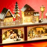 SIKORA LB87 Illuminated Wooden Christmas Arch Base