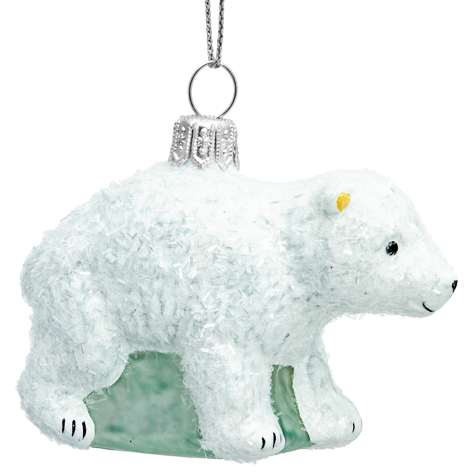 Sikora Bs708 Polar Bear Cub Christmas Tree Decoration Glass Figurine Ornament Bauble Exclusive Edition Sikora Christmas World