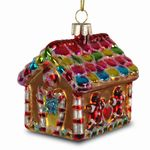 SIKORA Colored Glass Christmas Tree Decoration / Gingerbread House