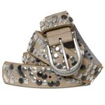 CASPAR GU223 Womens Studded Vintage Leather Belt
