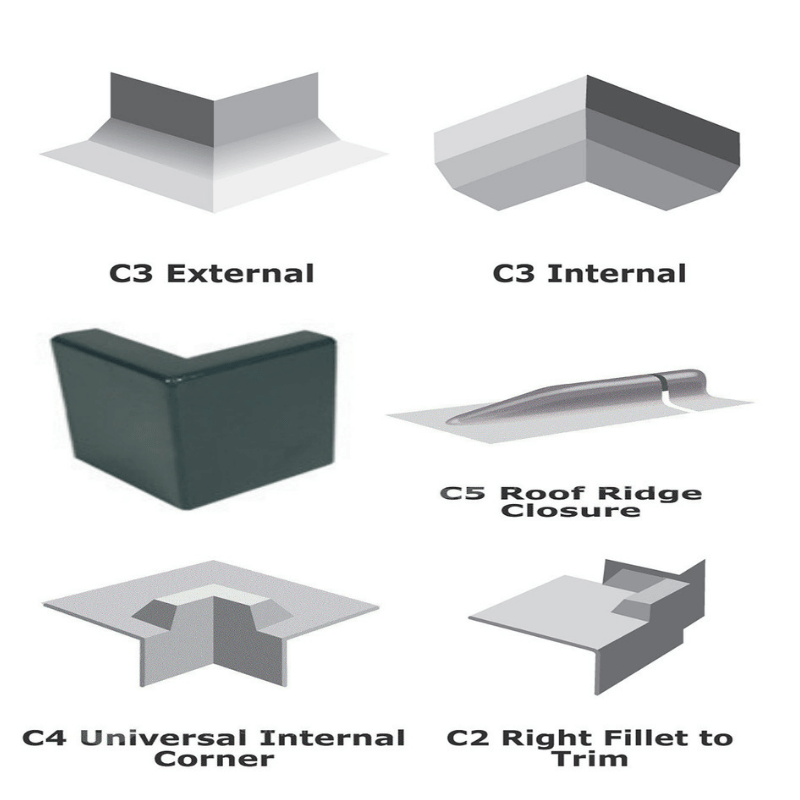 Fibreglass corner trims