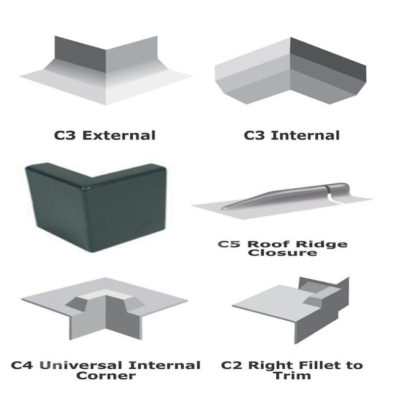 Fibreglass corner trims