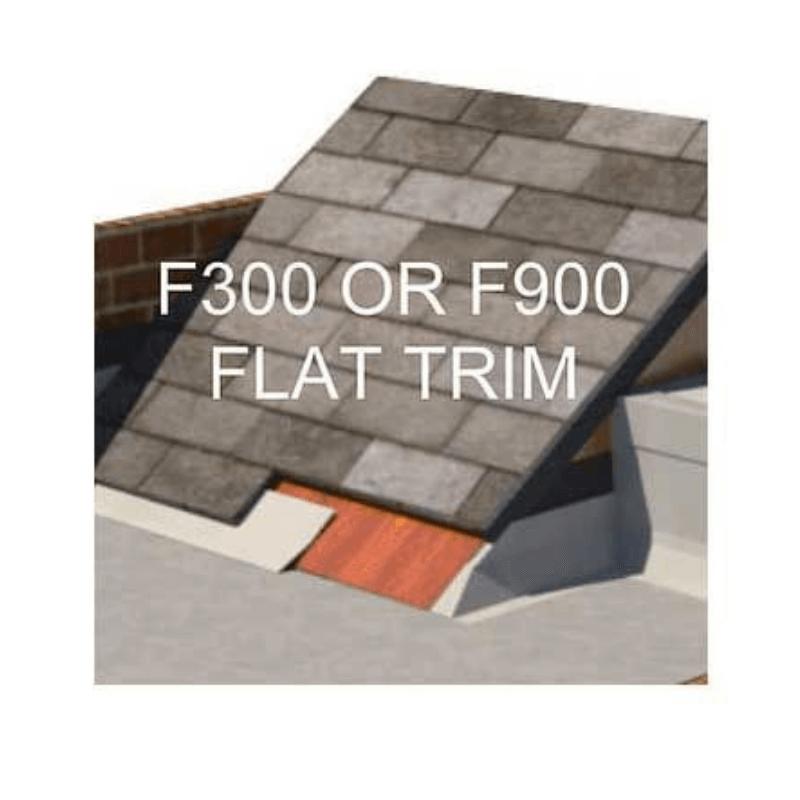 Up under tile flat trim
