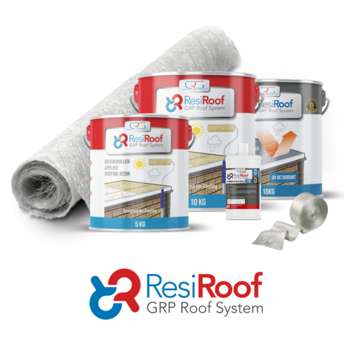 10m2 450g Fibreglass Roof Kit resiroof