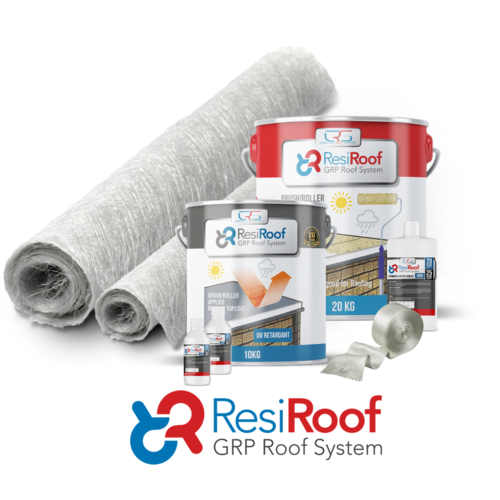 15m2 450g Fibreglass Roof Kit resiroof