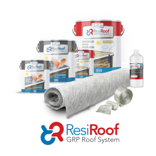 20m2 450g Fibreglass Roof Kit ResiRoof