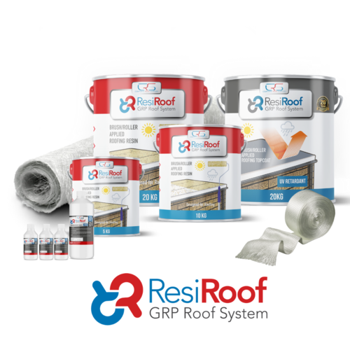 30m2 450g Fibreglass Roof Kit ResiRoof