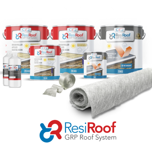 50m2 450g Fibreglass Roof Kit ResiRoof