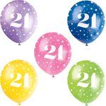 5 Luftballons 21. Geburtstag 001