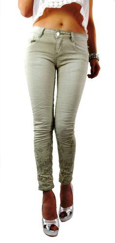 Mit Eng In Skinny Beige Stretch Jeans Mozzaar Damen Geschnitten Hose oxQdBWrCe