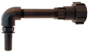 IBC Auslaufbogen 250mm mit Schlauchtülle 90°