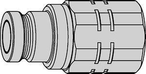 Schnellkupplung trocken schließend Steckerteil 1 Zoll Edelstahl – Bild 1