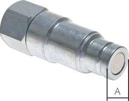 """Flat Face Kupplung Stahl  1/2"""" Stecker mit Druckeliminator – Bild 1"""
