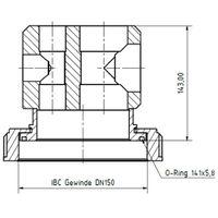 Universalanschluss für IBC 150mm ATEX – Bild 6
