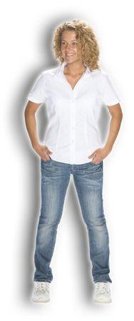 Damen-BLUSE Kurzarm – Bild 2
