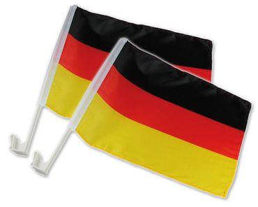 """2er AKTIONS-Set - 2 für 1 - Autoflagge """"Deutschland"""""""