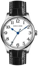 MARC & SONS Marine Automatic watch white, Miyota 9015  - Reference MSM-003