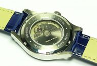 MARC & SONS Marine Automatic watch white blue Date, Miyota 9015 - Ref. MSM-008