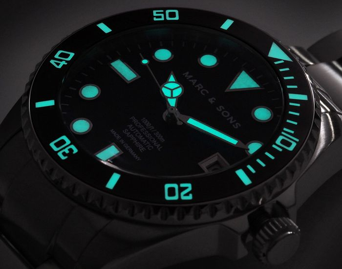 MARC & SONS Diver watch Series CLASSIC MSD-044-SSS