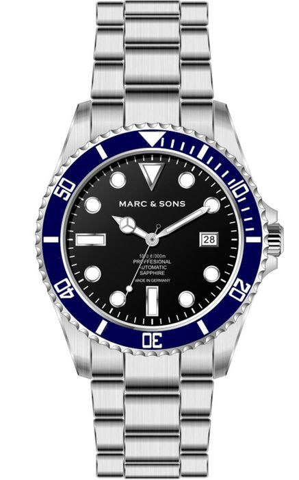 MARC & SONS Diver watch Series CLASSIC MSD-044-SBS