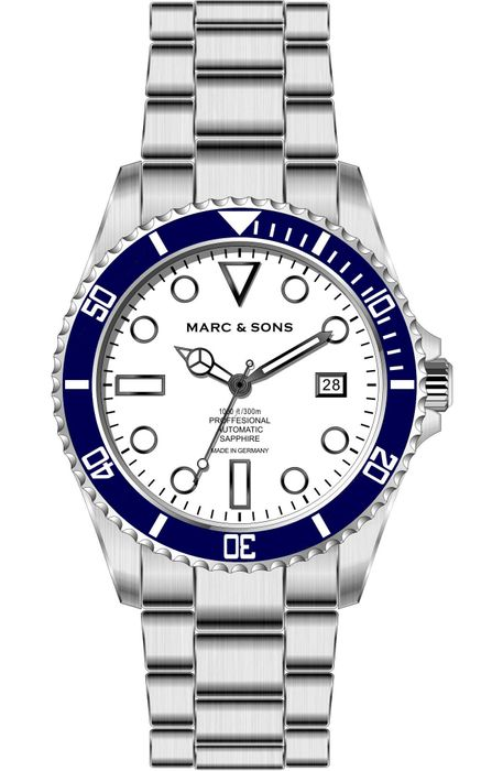 MARC & SONS Diver watch Series CLASSIC MSD-044-WBS