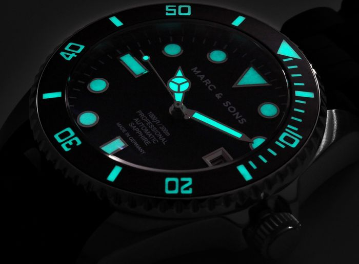 MARC & SONS Diver watch series CLASSIC MSD-044-SBK1