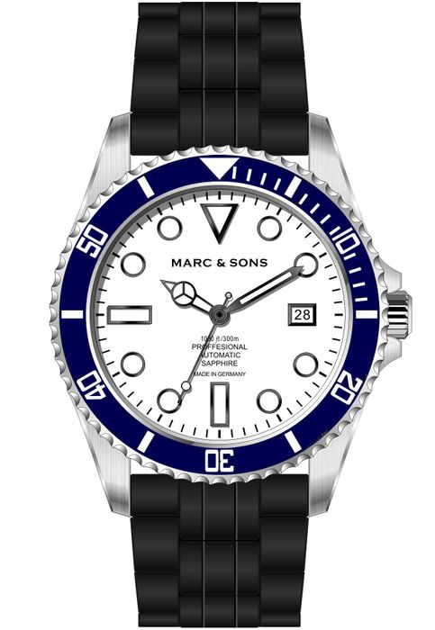 MARC & SONS Diver watch series CLASSIC MSD-044-WBK1