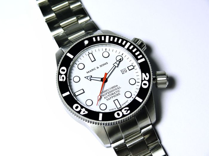 MARC & SONS diver watch PROFESSIONAL MOD BGW9 MSD-028-13S