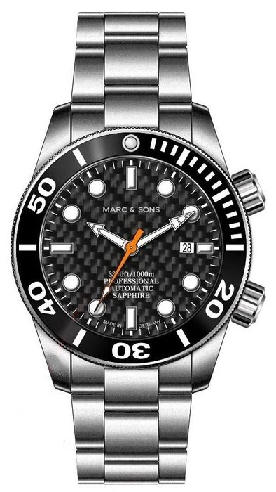 MARC & SONS diver watch PROFESSIONAL MOD BGW9 MSD-028-16S