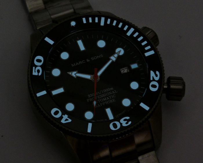 MARC & SONS diver watch PROFESSIONAL MOD BGW9 MSD-028-17S